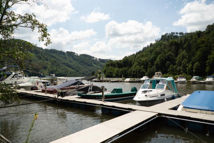 Anlegestellen Sportboothafen Untermühl